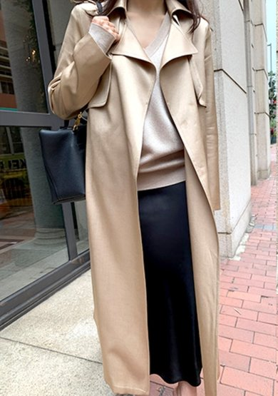 silky trench coat