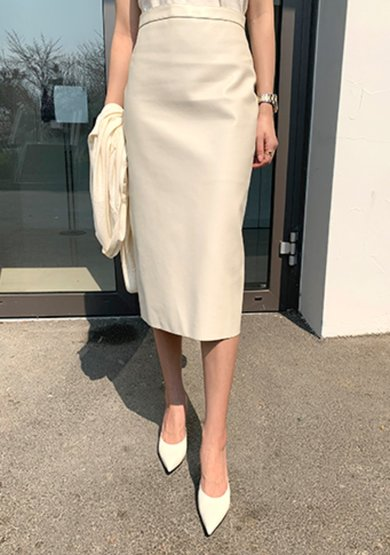 spring maison leather skirt(2colors)