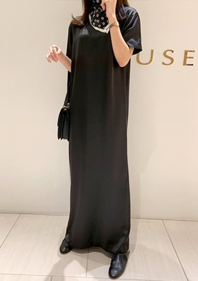 Silky maxi dress in black주문폭주!!3차 open!!