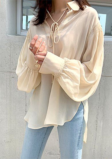 chlo bouffant sleeve blouse(2colors)주문폭주!!